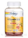 Vitamin D3 Gummies 50 mcg (2000 IU) - Natural Peach, Mango & Strawberry Flavor - 60 Gummies