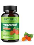 Vitamin D3 Gummies, Mixed Fruit Flavors - 90 Vegetarian Gummies