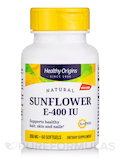 Vitamin E 400 IU Sunflower (Sun E 900TM) - 60 Softgels