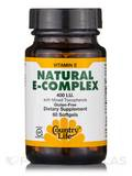 Vitamin E Complex with Mixed Tocopherols 400 IU 60 Softgels