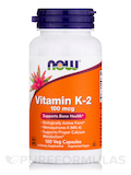 Vitamin K-2 100 mcg - 100 Veg Capsules