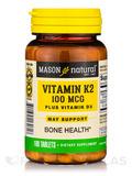 Vitamin K2 100 mcg plus D3 - 100 Tablets