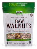 NOW® Real Food - Certified Organic Raw Walnuts, Unsalted - 12 oz (340 Grams)