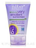 Natural Very Emollient Sunscreen Natural Protection Pure Lavender SPF45 4 oz (113 Grams)