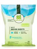 Wet Dryer Sheets, Fragrance Free - 64 Loads (32 Compostable Sheets)