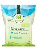Wet Dryer Sheets, Fragrance Free - 64 Loads (32 Compostable Sheets)