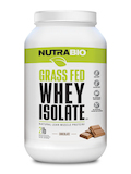 Grass Fed Whey Protein Isolate Powder, Chocolate Flavor - 2 lb (907 Grams)