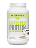 Grass Fed Whey Protein Isolate Powder, Cookies and Cream Flavor - 2 lb (907 Grams)
