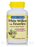 White Willow with Feverfew Standardized 60 Vegetarian Capsules