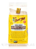 Whole Grain Brown Rice Flour, Stone Ground - 24 oz (680 Grams)