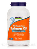 Wild Alaskan Salmon Oil - 200 Softgels