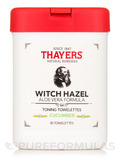 Witch Hazel Toning Towelettes with Aloe Vera, Cucumber - 30 Towelettes