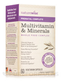 Women's Prenatal Complete Multivitamin & Minerals Whole Food Complex - 60 Vegetarian Capsules