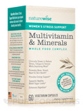 Women's Stress Support Multivitamin & Minerals Whole Food Complex - 60 Vegetarian Capsules