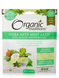 Yerba Mate Mint Latte with Matcha and Probiotics - 5.3 oz (150 Grams)