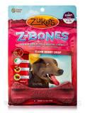 Z-Bones Multi-Count Clean Berry Crisp, Giant Bones for Dogs 90+ lbs - 4 Count (15.5 oz / 425 Grams)