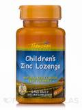 Children's Zinc Lozenge (Natural Fruit Flavor plus Vitamin C) 45 Lozenges