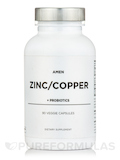 Zinc/Copper with Probiotics - 90 Veggie Capsules