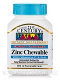 Zinc Chewable plus Vitamins C & B-6, Cherry Flavor - 90 Tablets