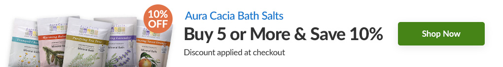 AURA CACIA BATH SALTS: BUY 5 & SAVE 10% - Discount Applied At Checkout