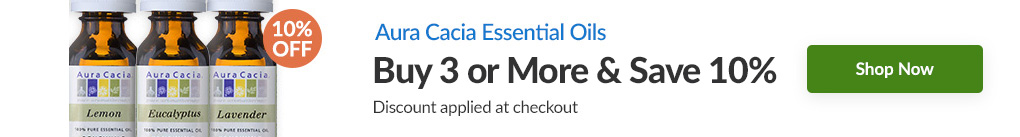 AURA CACIA ESSENTIAL OILS: BUY 3 & SAVE 10% - Discount Applied At Checkout
