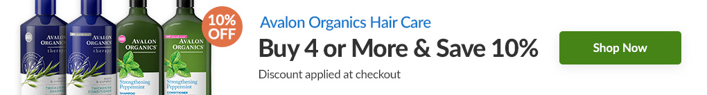 AVALON ORGANICS HAIR CARE: BUY 4 & SAVE 10% - Discount Applied At Checkout