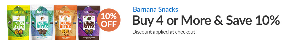 BARNANA SNACKS: BUY 4 & SAVE 10% - Discount Applied At Checkout
