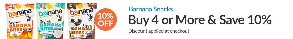 BARNANA SNACKS: BUY 4 & SAVE 10% - Discount Applied At Checkout