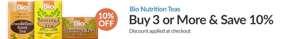 BIO NUTRITION TEAS: BUY 3 & SAVE 10% - Discount Applied At Checkout
