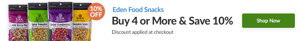 EDEN FOOD SNACKS: BUY 4 & SAVE 10% - Discount Applied At Checkout