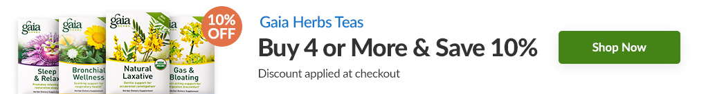GAIA HERBS TEAS: BUY 4 & SAVE 10% - Discount Applied At Checkout