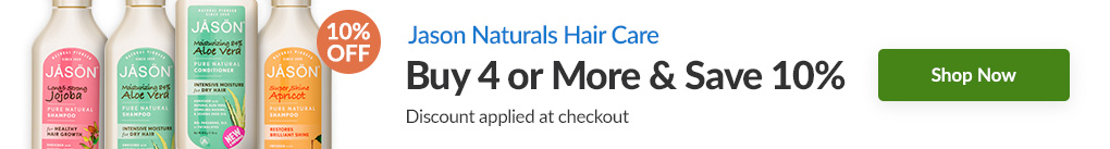JASON NATURALS HAIR CARE: BUY 4 & SAVE 10% - Discount Applied At Checkout