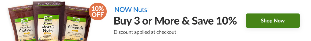 NUTS FROM NOW: BUY 3 & SAVE 10% - Discount Applied At Checkout