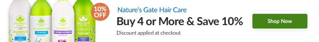 NATURE'S GATE HAIR CARE: BUY 4 & SAVE 10% - Discount Applied At Checkout