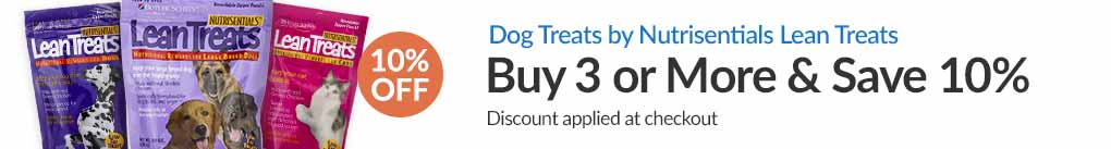 DOG TREATS BY NUTRISENTIAL LEAN TREATS : BUY 3 & SAVE 10% - Discount Applied At Checkout