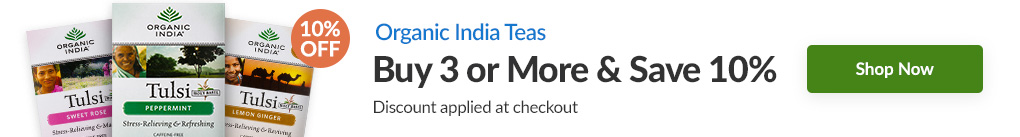 ORGANIC INDIA TEAS: BUY 3 & SAVE 10% - Discount Applied At Checkout