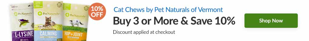 CAT CHEWS BY PET NATURALS OF VERMONT: BUY 3 & SAVE 10% - Discount Applied At Checkout