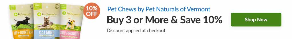 PET CHEWS BY PET NATURALS OF VERMONT: BUY 3 & SAVE 10% - Discount Applied At Checkout
