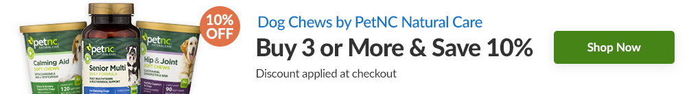 DOG CHEWS BY PETNC NATURAL CARE: BUY 3 & SAVE 10% - Discount Applied At Checkout