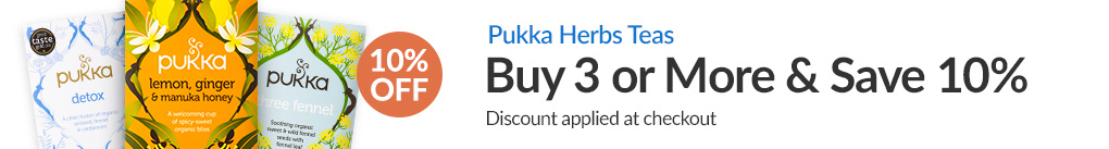 PUKKA HERBS TEAS: BUY 3 & SAVE 10% - Discount Applied At Checkout