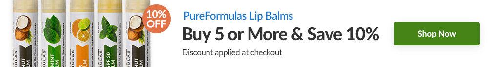 LIP BALMS BY PUREFORMULAS: BUY 5 & SAVE 10% - Discount Applied At Checkout
