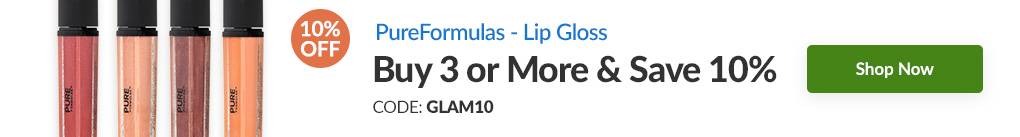 LIP GLOSS BY PUREFORMULAS: BUY 3 & SAVE 10% - CODE: GLAM10