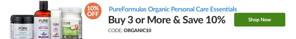 ORGANIC PERSONAL CARE ESSENTIALS BY PUREFORMULAS: BUY 3 & SAVE 10% - CODE: ORGANIC10