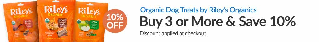 ORGANIC DOG TREATS BY RILEY'S ORGANICS: BUY 3 & SAVE 10% - Discount Applied At Checkout
