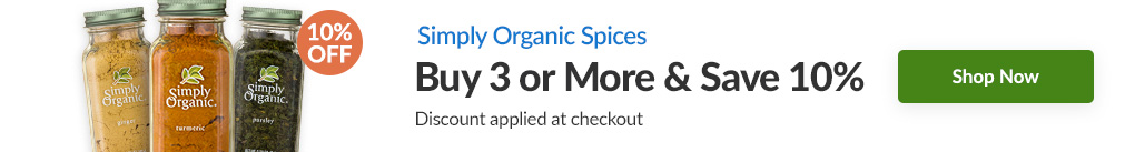 SIMPLY ORGANIC SPICES: BUY 3 & SAVE 10% - Discount Applied At Checkout