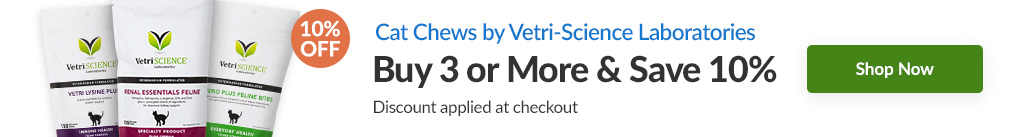 CAT CHEWS BY VETRI-SCIENCE LABORATORIES: BUY 3 & SAVE 10% - Discount Applied At Checkout