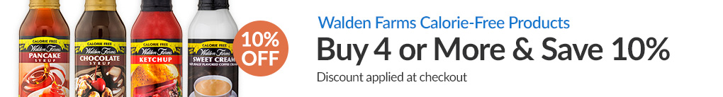 WALDEN FARMS CALORIE-FREE PRODUCTS: BUY 3 & SAVE 10% - Discount Applied At Checkout