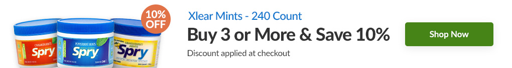 XLEAR MINTS - 240 COUNT: BUY 4 & SAVE 10% - Discount Applied At Checkout