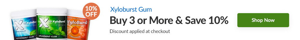 XYLOBURST GUM: BUY 3 & SAVE 10% - Discount Applied At Checkout