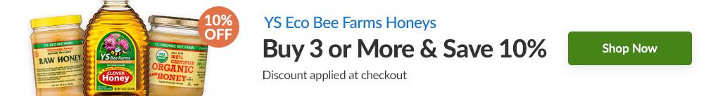 YS ECO BEE FARMS HONEYS: BUY 3 & SAVE 10% - Discount Applied At Checkout